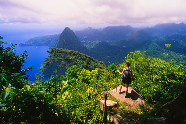 Where can Americans fly right now Saint Lucia Sherpa